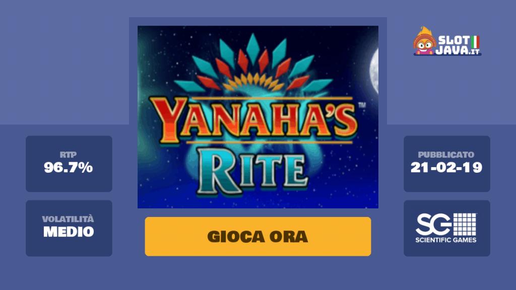 สล็อตออนไลน์ Yanaha's Rite
